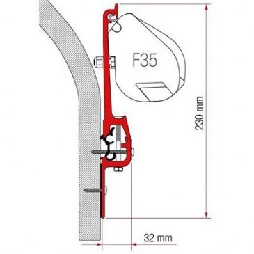 Fiamma Awning Adapter KIT ERIBA TOURING